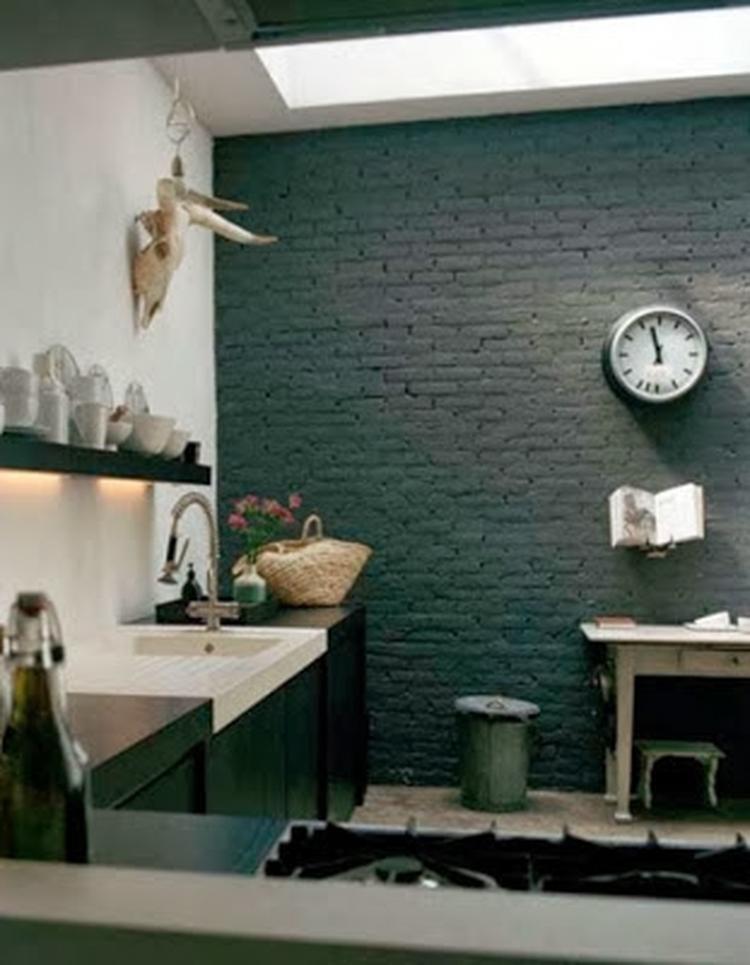 Industriële muur - industrieel interieur - bakstenen muur ...