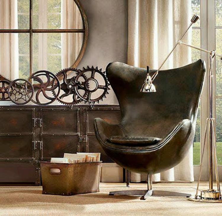 Industriële stoel - industrieel interieur - industriële fauteuil ...