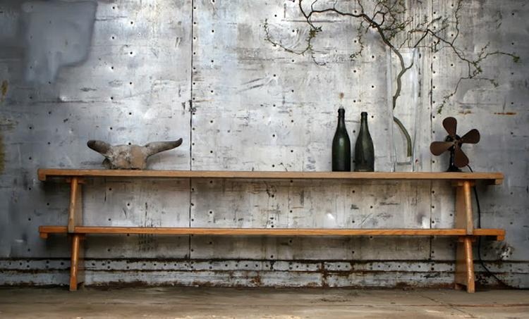 Industrieel interieur -industriële woonkamer - vintage - metaal ...
