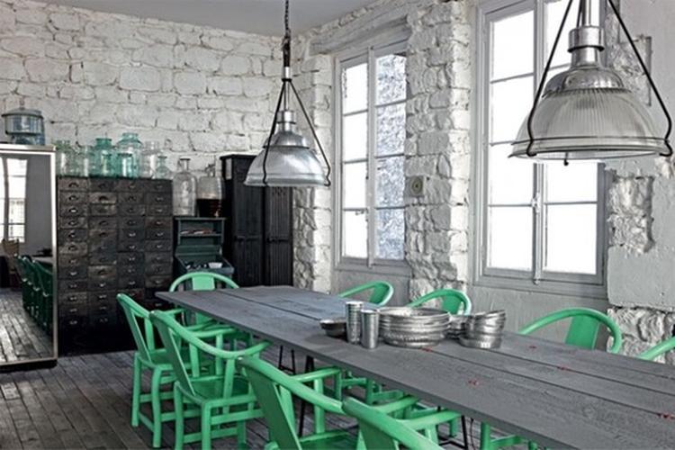 industrieel interieur industrile woonkamer vintage metaal trend inspiratie kleur