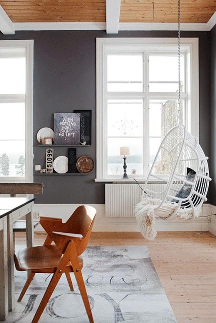 Hangstoel - woonkamer - industrieel interieur. Foto geplaatst door ...