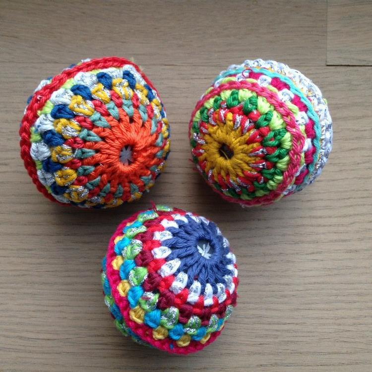 Voor Kerst Zelf Gehaakte Kerstballen Klein Model Kerstbal Haken