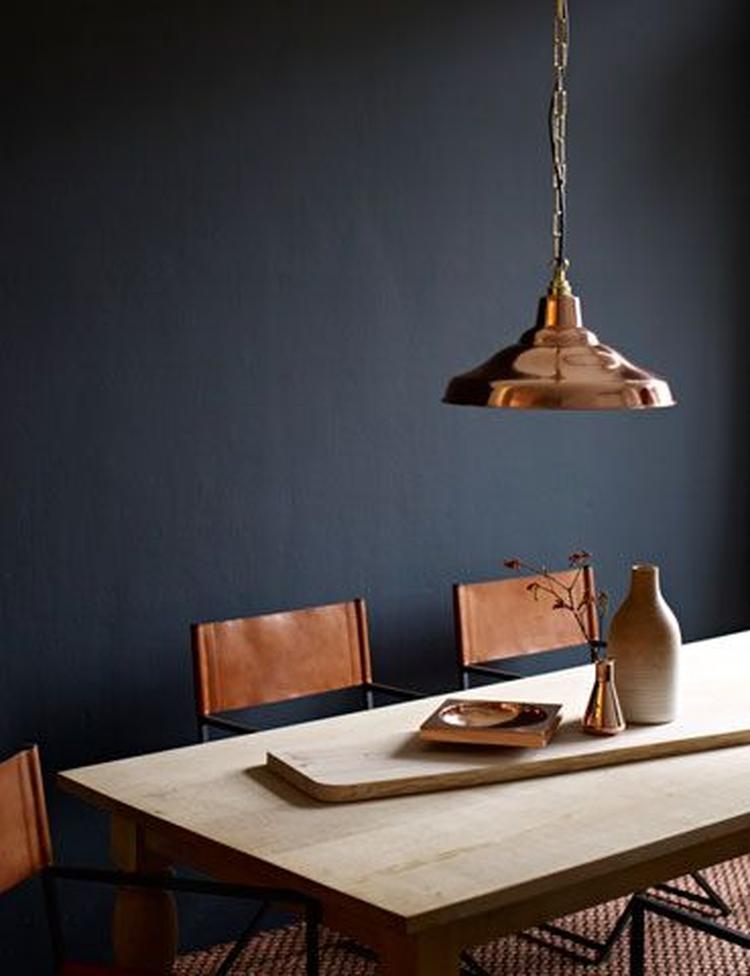 Hele mooie kleur op de muur voor in de woonkamer, prachtig in ...