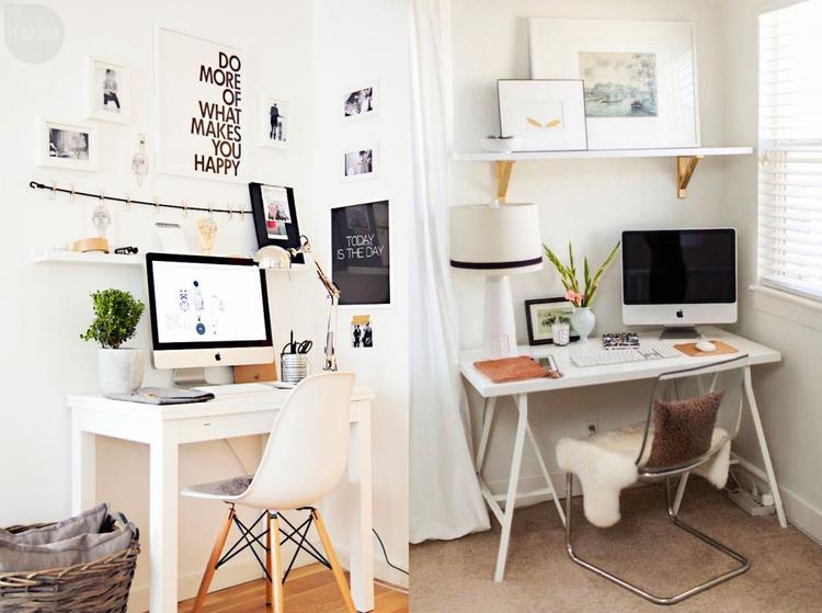 Een kantoortje in je woonkamer maken. Foto geplaatst door ...