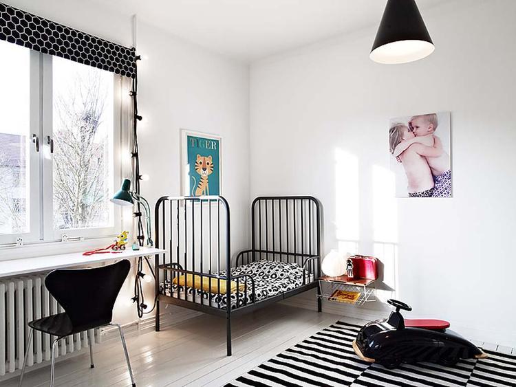 Zwart Wit Kinderslaapkamer : Kinderkamer in zwart en wit een kinderkamer hoeft helemaal geen
