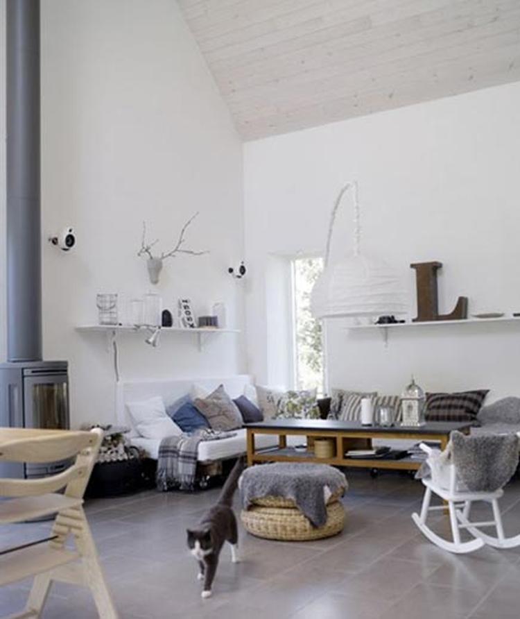Grijs wit blauw en hout tinten zijn mooie rustige kleuren!. Foto ...