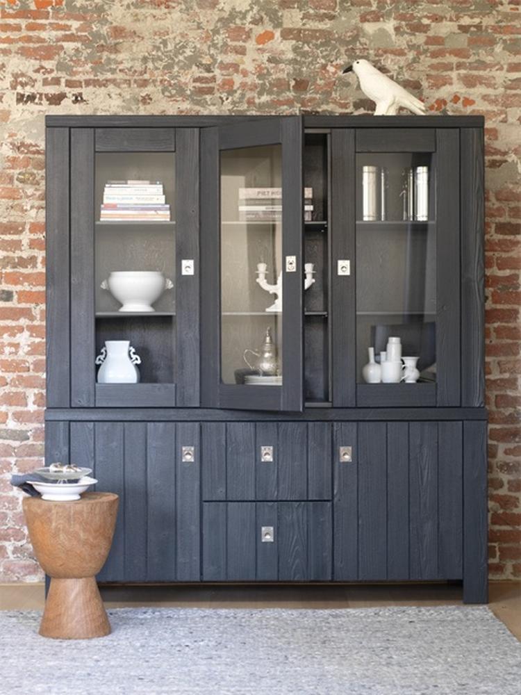 Woonkamer grey schouw for Kast woonkamer modern