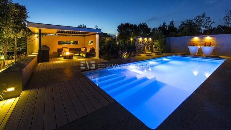 Zwembad Tuin Beautiful Door De In Beplanting Zoals De Klimop En
