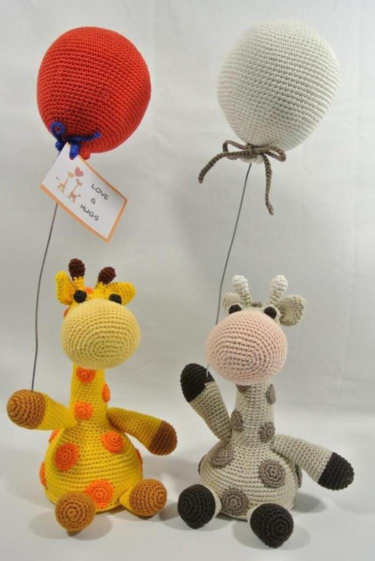 Dit Is De Giraffe Uit De Reeks Voor Het Boek Ballon Wensdieren Haken