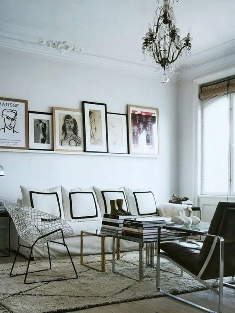 Fotolijst Wandplank Wit.Wanddecoratie Woonkamer Plank Met Fotolijsten Foto