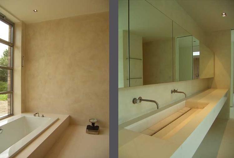 Muren badkamer afgewerkt met tadelakt.. Foto geplaatst door Denize ...