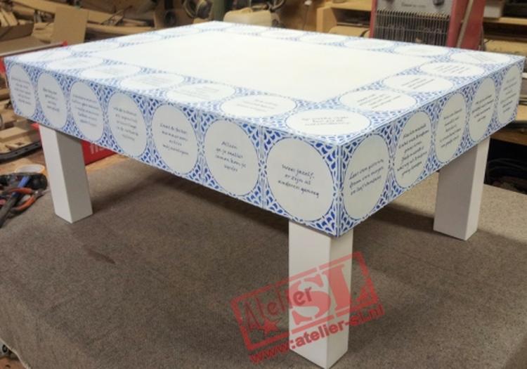 Delfts Blauwe Tegels : Delfts blauw tafel. salontafel beschilderde met delfts blauw tegels