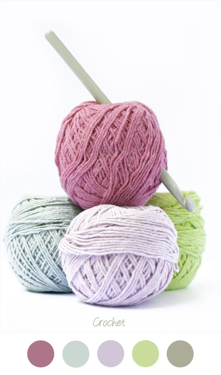 Crochet Haken En Breien Bol Wol Mooie Kleuren Combinatie Voor