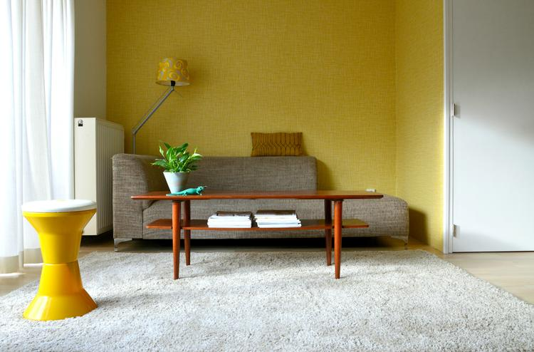 gele accessoires woonkamer