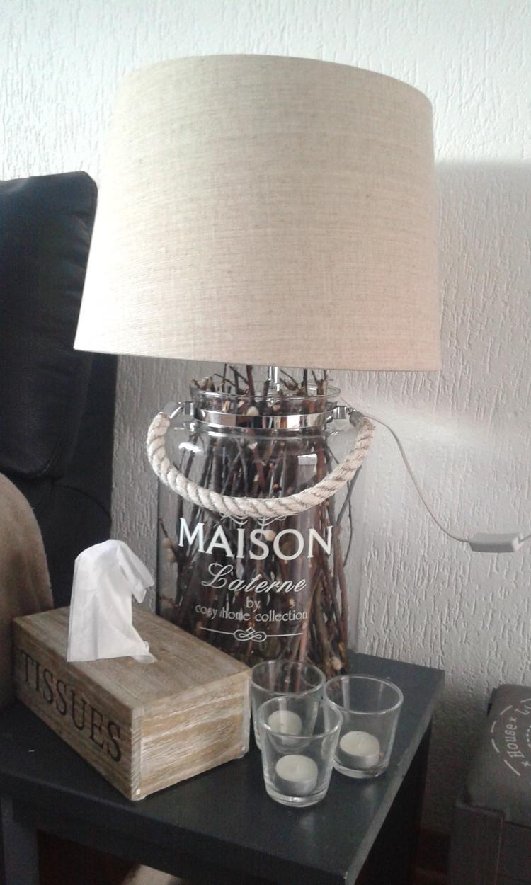 Sfeerlantaarn als landelijke staande lamp. Foto geplaatst door ...