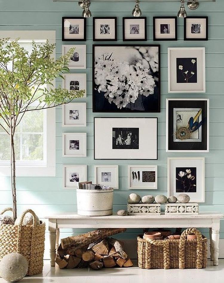 Fotoplank Wit 2 Meter.Mooie Fotowand In Zwart En Wit Doordat De Lijsten In Een Figuur