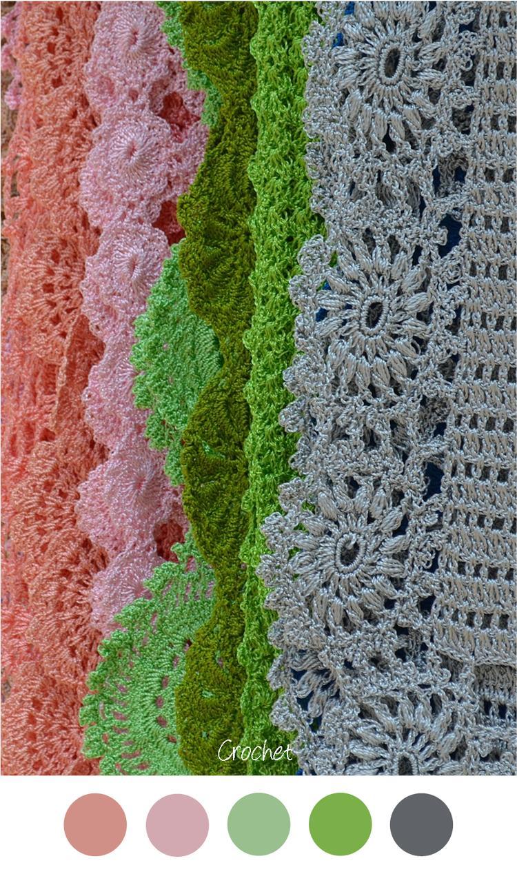 Crochet Sprei Haken Mooie Kleuren Voor Een Meisjeskamer Grijs