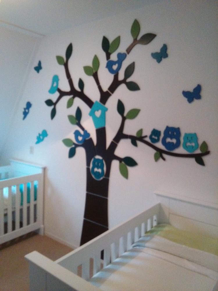 houten boom op muur babykamer. foto geplaatst door hediehoi op, Deco ideeën