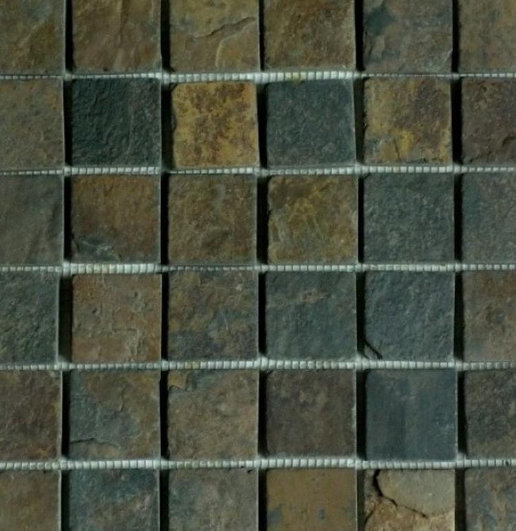 Natuursteen / Leisteen mozaiek tegels om de badkamer een natuurlijke ...