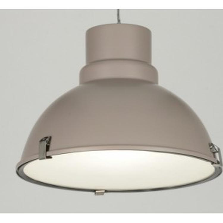 lamp eettafel modern retro industrielook glas mat metaal