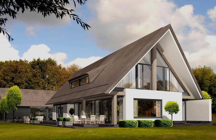 Landelijk moderne woning met terras . foto geplaatst door gelinde op