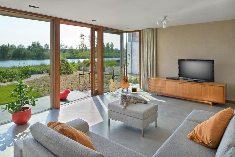Villa Rieteiland-Oost in Amsterdam (Egeon Architecten). Prachtige ...