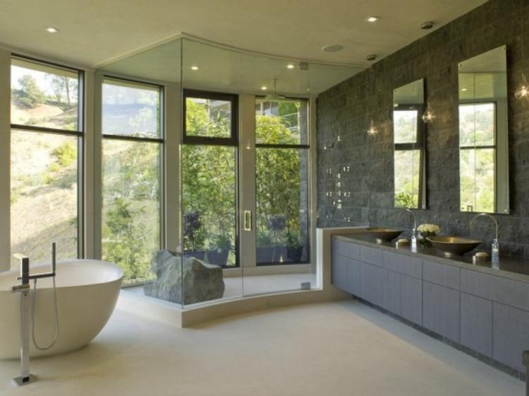 badkamer stenen muur with badkamer muur