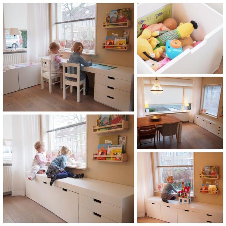 Leuke speelhoek in de woonkamer. Foto geplaatst door Mmate op Welke.nl