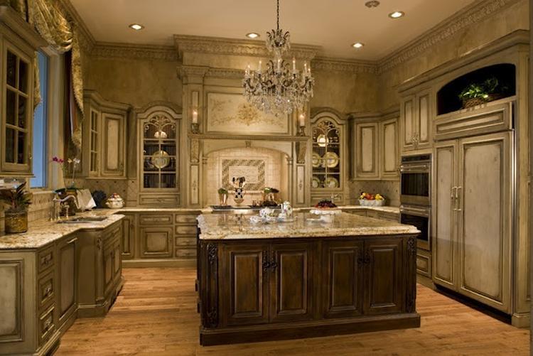 Keuken met eiken vloer en houten meubels meer informatie ...