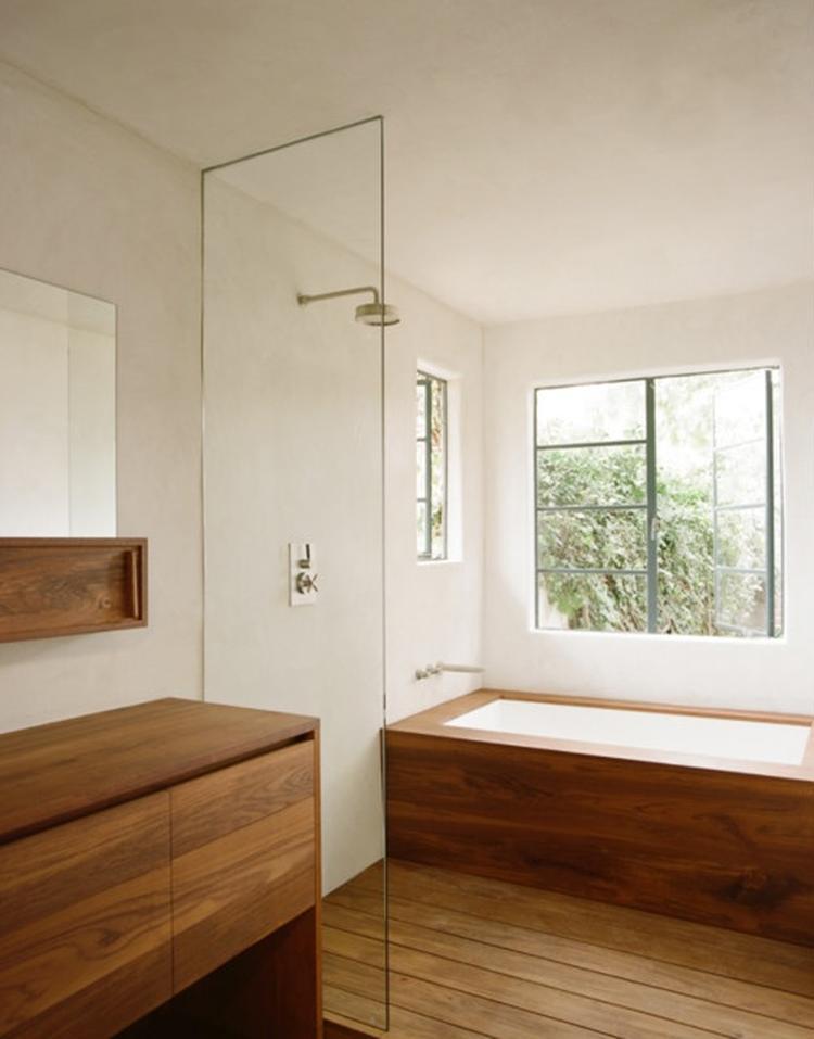 Mdf lambrisering badkamer wandbetimmering plaatsen brico 56 best images about badkamer on - Houten lambrisering plafond badkamer ...
