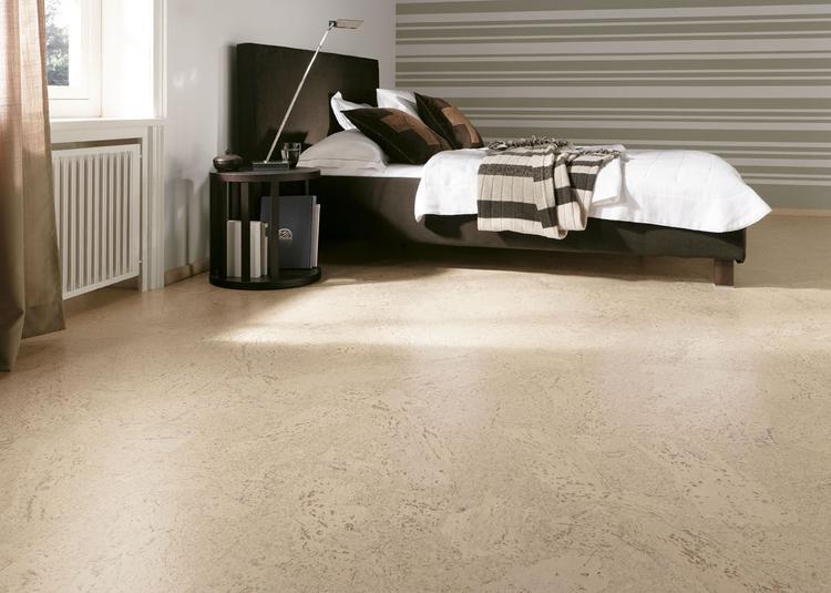 Mooie kurk vloer in slaapkamer meer informatie: kwaliteitparket nl