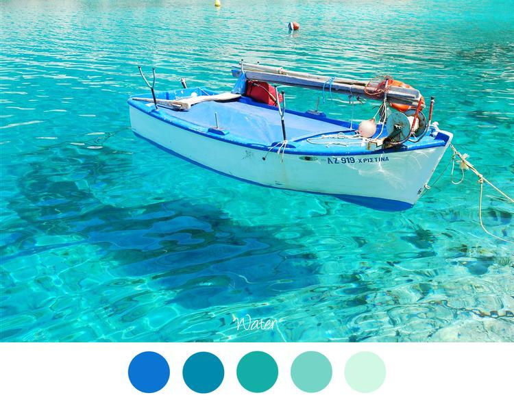 vele tinten blauw voor in het interieur aqua