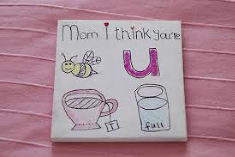 Zeer lief eenvoudig cadeautje voor mama. Foto geplaatst door Mandiix op  #VJ81