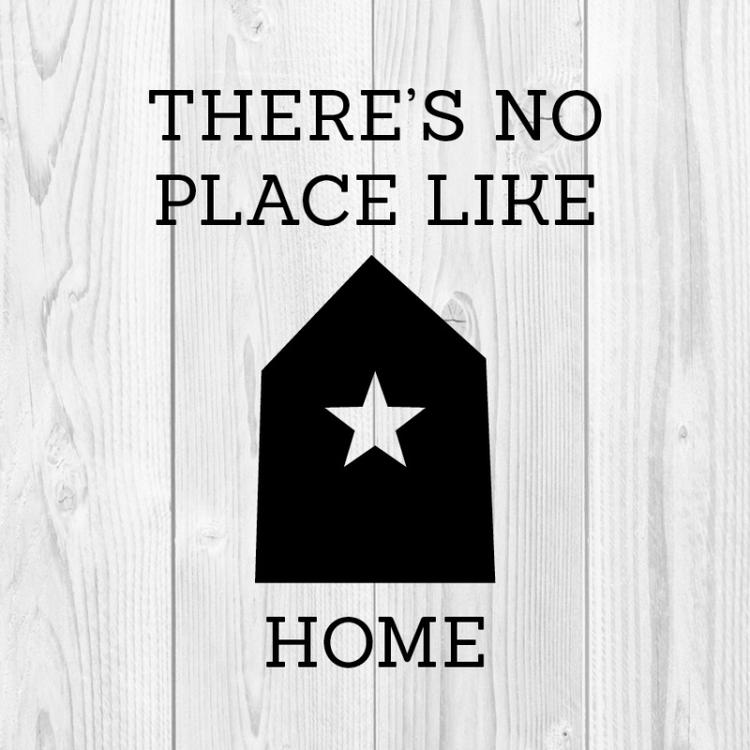 Hip Canvasdoek Met De Tekst Theres No Place Like Home