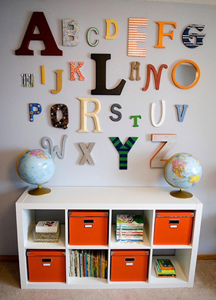 Letters Voor Op De Muur Kinderkamer.Origineel Alfabet Op De Muur Van De Kinderkamer Leuk Idee Om Een