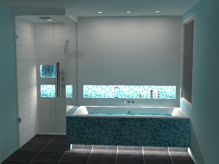 Badwereld Design Stoomcabine naast bad. Stoomcabine, onzichtbaar ...