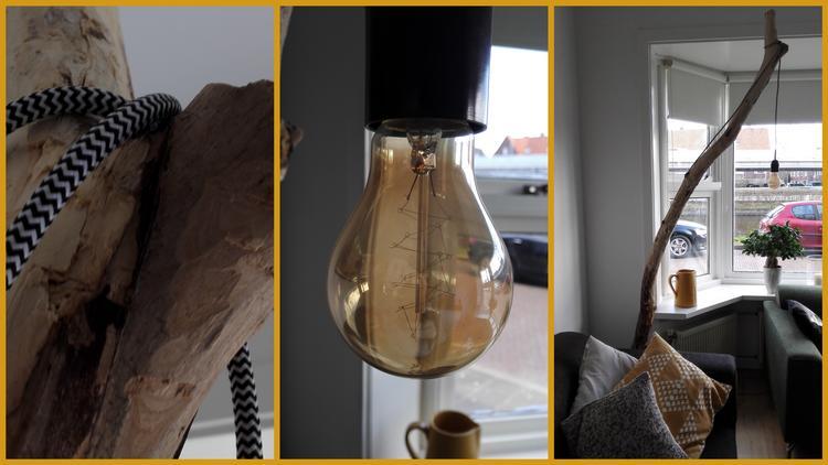 DIY staande lamp hout woonkamer in beton. Foto geplaatst door yvon15 ...