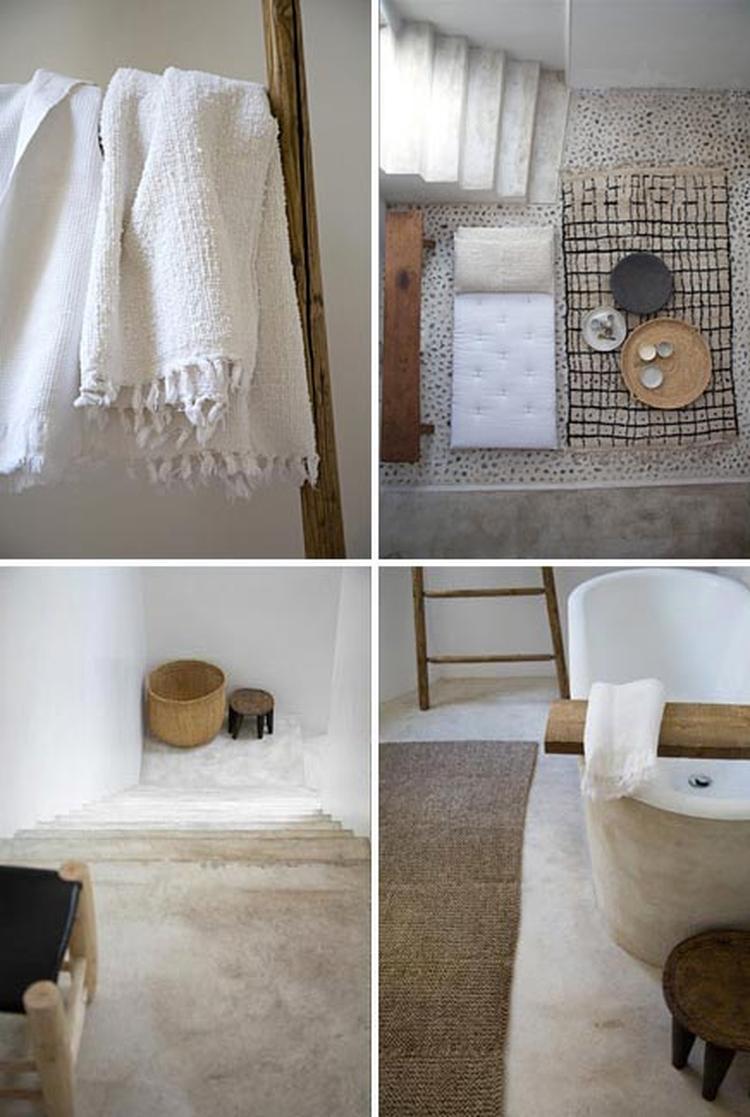 kalkverf hygià nisch en natuurlijk in de badkamer zowel vloer als