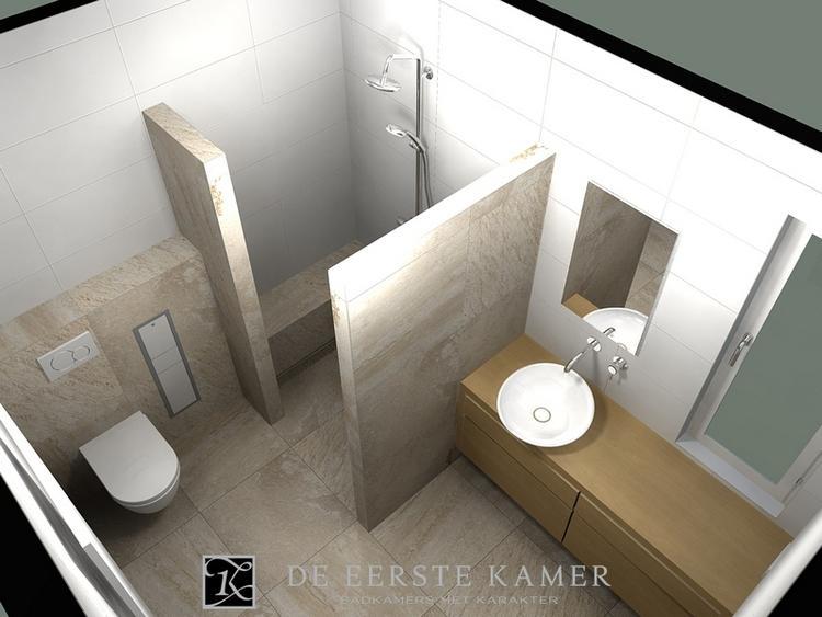 De Eerste Kamer) Een natuurlijke badkamer. Licht en gezellig!. Foto ...