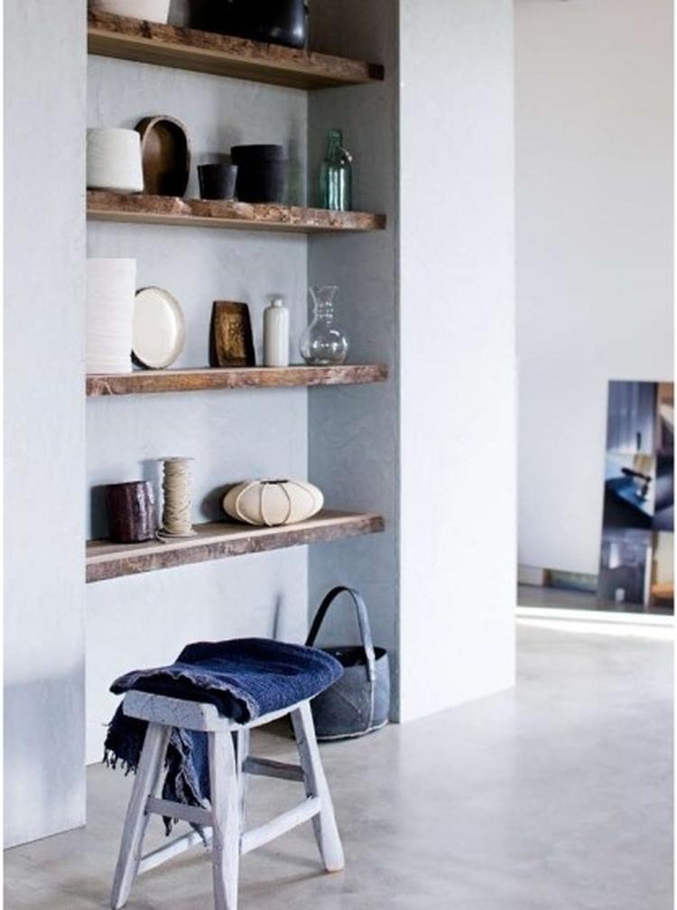 Idee planken in de nis woonkamer. Foto geplaatst door linne358 op ...