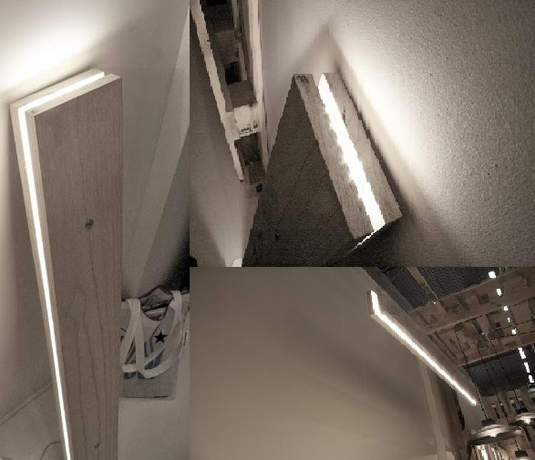 Budget tip: LED Verlichting. Makkelijk zelf te maken: 2 planken, en ...