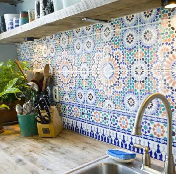 Marokkaanse Tegels Tuin.Marokkaanse Tegels Geven Een Speels Effect En Vooral Veel Kleur In