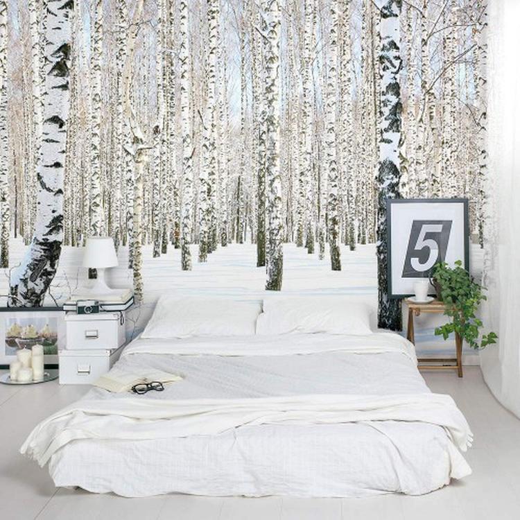 fotobehang voor groots effect! via website slaapkamer-ideeën. foto, Deco ideeën