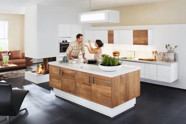 Grijze keuken wit blad witte keuken met grijs werkblad beste inspiratie voor interieur witte - Hout en witte keuken ...