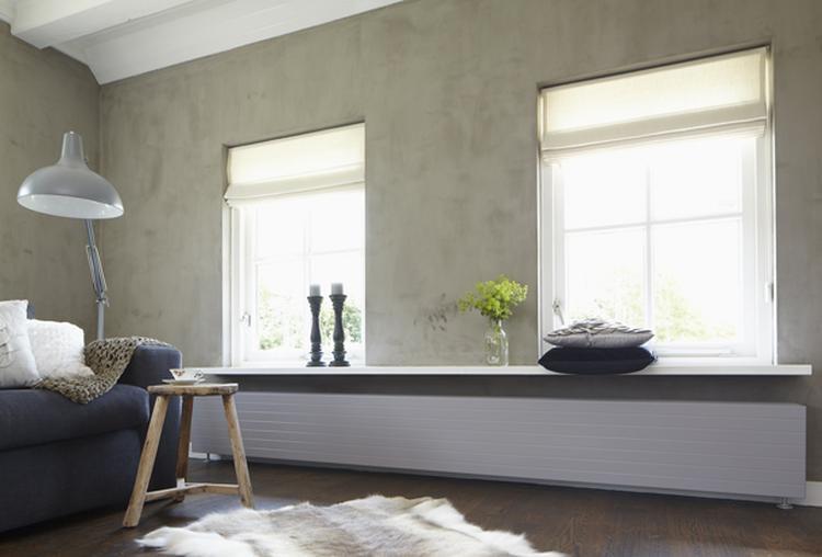 Wit plafond en kalkverf muur. Foto geplaatst door cem op Welke.nl