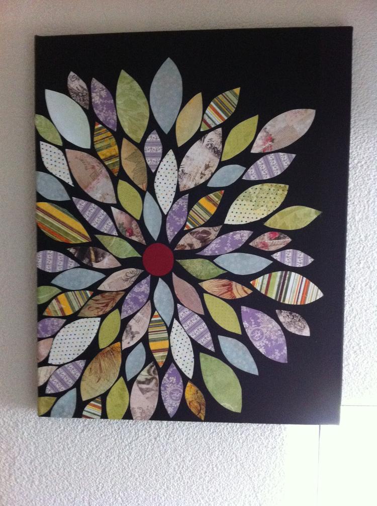 Zeer Een mooi schilderij en makkelijk zelf te maken. Pak een canvas  #IY43