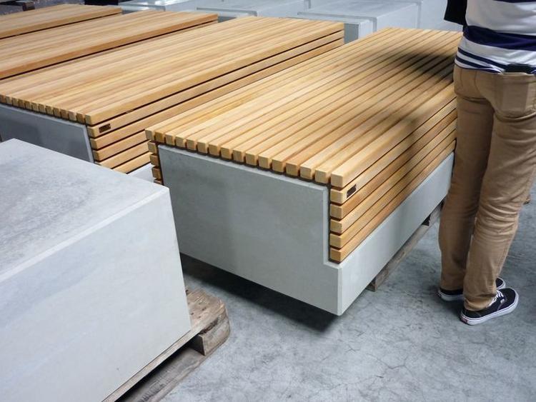 Hout En Beton : Bank van hout en beton foto geplaatst door pieterh op welke