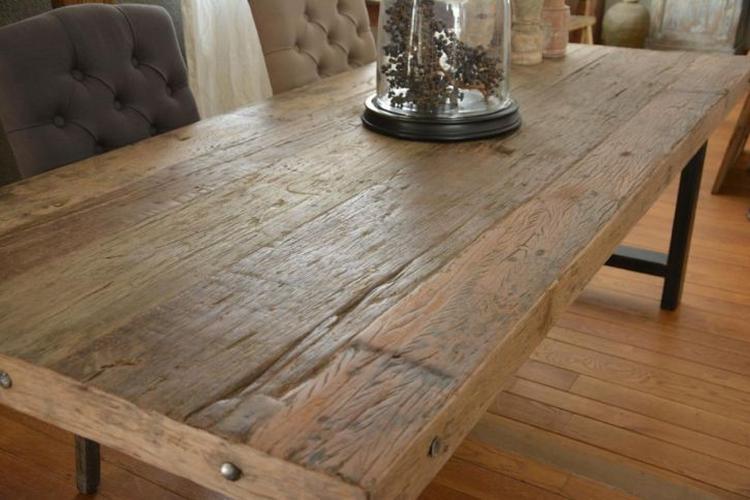 Ruw houten tafel sa42 aboriginaltourismontario for Hout voor tafel
