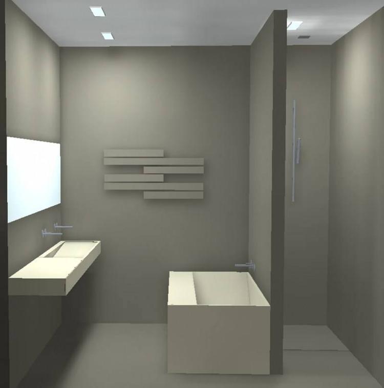 Badkamer idee om bad tegen inloopdouche te plaatsen of misschien ipv ...