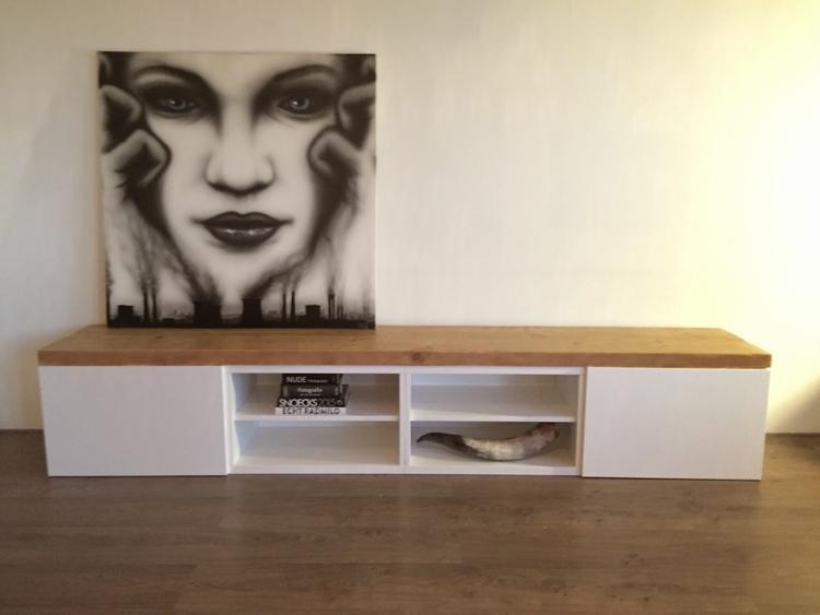 Ikea Tv Tafel : Diy tv meubel best cheap diy betonlook tvmeubel u hoe maak je een